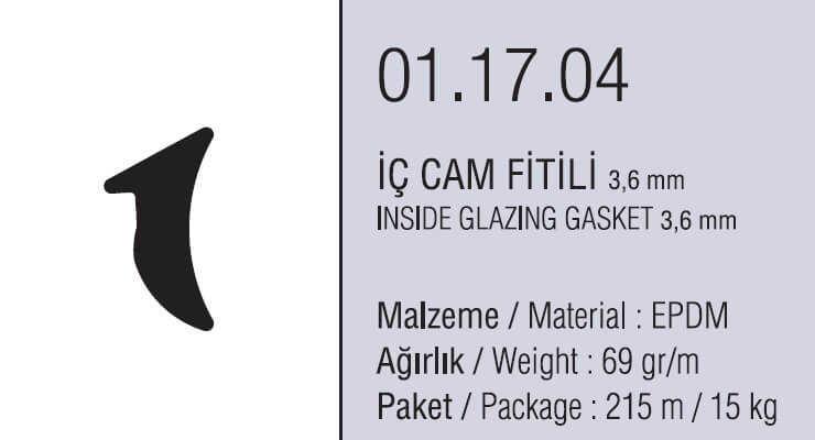 01.17.04 İç Cam Fitili 3.6 mm - 215 Metre