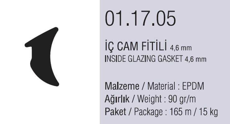 01.17.05 İç Cam Fitili 4.6 mm - 165 Metre
