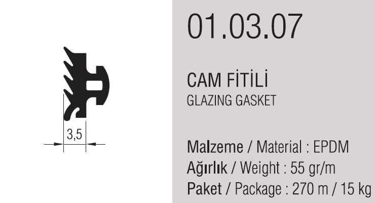 01.03.07 Cam Fitili 3.5 mm - 270 Metre