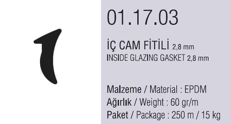 01.17.03 İç Cam Fitili 2.8 mm - 250 Metre