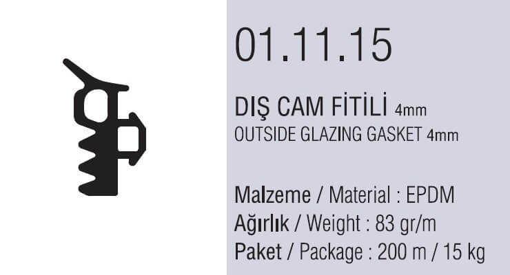 01.11.15 Dış Cam Fitili 4 mm - 200 Metre