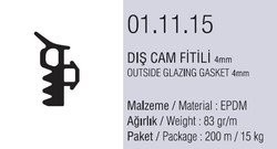 01.11.15 Dış Cam Fitili 4 mm - 200 Metre - Thumbnail